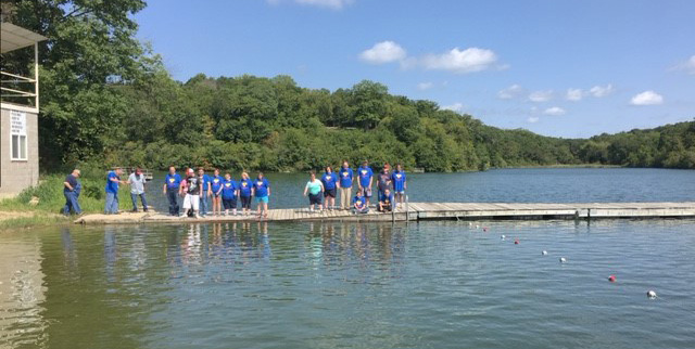 SLI campers enjoying the lakeside.