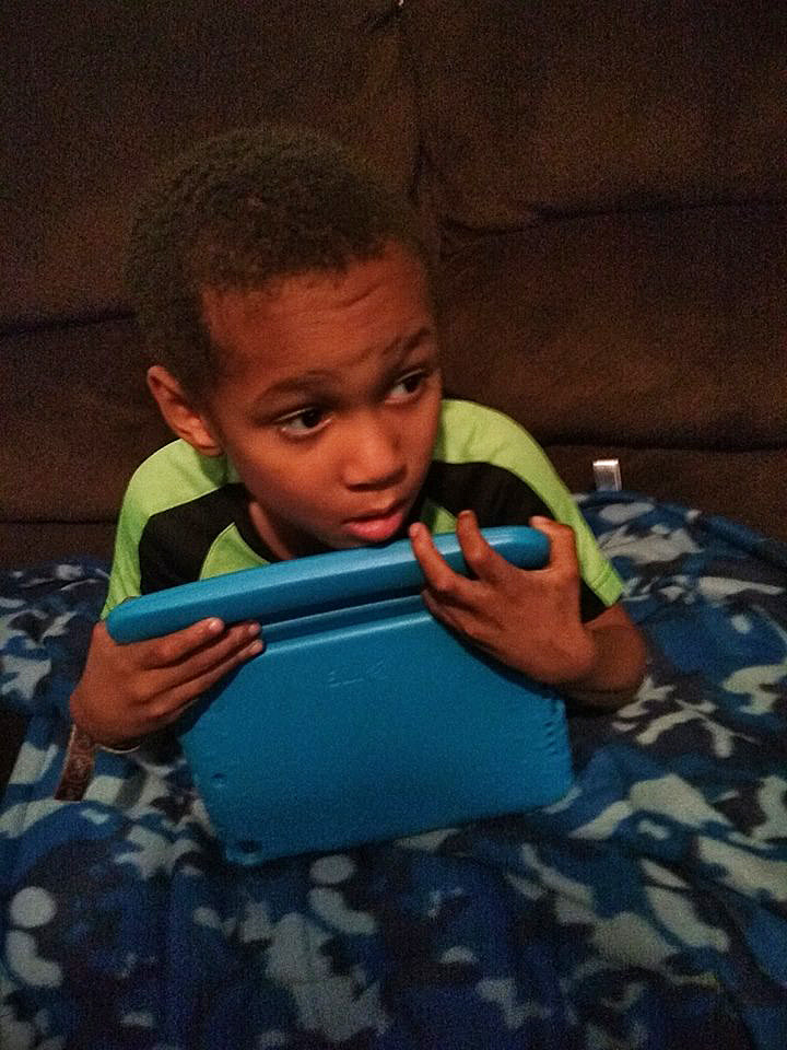 Darrius and his new iPad