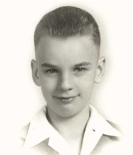Chuck Martin as a young boy